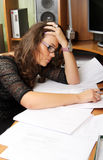 Exhausted businesswoman Stock Photography