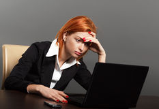 Exhausted Businesswoman Royalty Free Stock Photo
