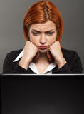 Exhausted Businesswoman Stock Images