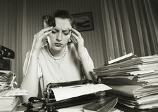 Exhausted businesswoman Royalty Free Stock Photography