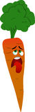 Exhausted carrot Stock Images