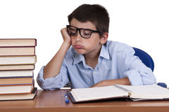 Exhausted child Royalty Free Stock Image