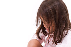Exhausted, desperate, sad little girl Royalty Free Stock Images
