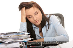 Exhausted female Royalty Free Stock Photo