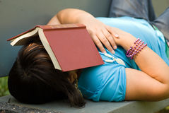 Exhausted Girl Stock Images