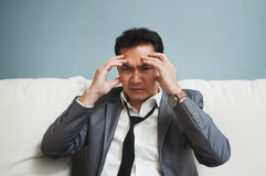 Exhausted, Illness, tired, stressed from overworked concepts. Bu Stock Photo
