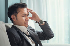 Exhausted, Illness, tired, stressed from overworked concepts. Bu Royalty Free Stock Photography