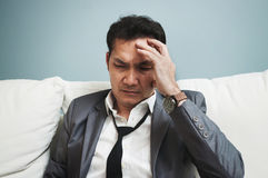 Exhausted, Illness, tired, stressed from overworked concepts. Bu Royalty Free Stock Images