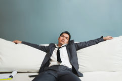 Exhausted, Illness, tired, stressed from overworked concepts. Bu Royalty Free Stock Image