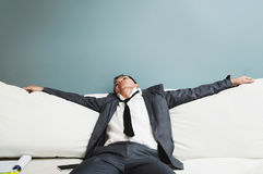 Exhausted, Illness, tired, stressed from overworked concepts. Bu Stock Image