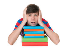 Exhausted from learning Stock Photography