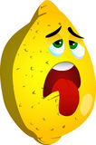 Exhausted lemon Stock Images