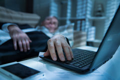 Exhausted man in office Royalty Free Stock Photography
