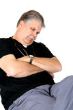 Exhausted medical doctor sitting in a chair asleep Royalty Free Stock Photography