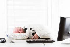 Businessman Sleeps in Office Stock Photography