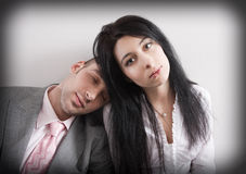 Exhausted after overtime work Royalty Free Stock Photos