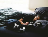 Exhausted Photographer Royalty Free Stock Images