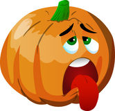 Exhausted pumpkin Stock Image