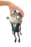 Exhausted robot businessman Royalty Free Stock Photography