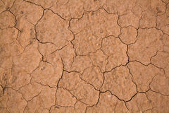 Exhausted soil. Dry wind and heat make their job; exhausted soil in Utah prairies; USA Royalty Free Stock Photos