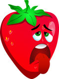 Exhausted strawberry Stock Photo