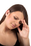 Exhausted, stressed woman - businesswoman Stock Images
