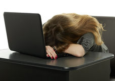 Exhausted student Royalty Free Stock Images