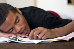 Exhausted Teen Stock Image