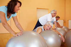 Exhausted woman in fitness class Royalty Free Stock Photography