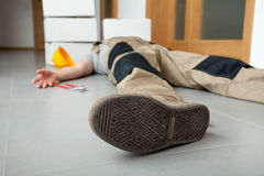 Exhausted worker Stock Photos