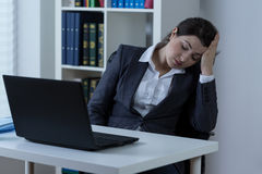 Exhausted worker Stock Photo