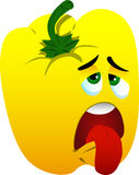 Exhausted yellow bell pepper Royalty Free Stock Image