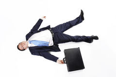 Exhausted young executive Stock Photography