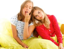 Exhausting Pajama Party Royalty Free Stock Image