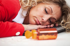 Exhaustion Stock Photo