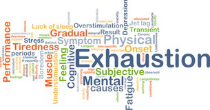 Exhaustion background concept Royalty Free Stock Images
