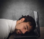 Exhaustion from overwork Royalty Free Stock Photo