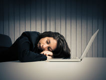 Exhaustion from overwork Stock Photography