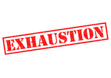 EXHAUSTION Stock Images