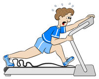 Exhaustive treadmill workout Royalty Free Stock Image