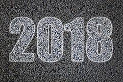 2018 exhaustos en un camino Foto de archivo libre de regalías