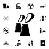 exhausts of factories icon. Ecology icons universal set for web and mobile stock illustration