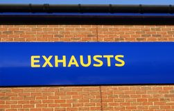 Exhausts sign Royalty Free Stock Photos