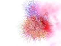 Exhibición colorida hermosa del fuego artificial para la celebración nuevo YE feliz Imagenes de archivo