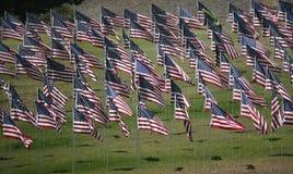 Exhibición conmemorativa de la bandera Imagen de archivo