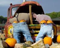 Exhibición de Halloween del borde de la carretera Imagenes de archivo
