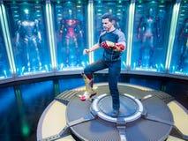 Exhibición de la estatuilla del hombre 3 del hierro de Tony Stark Imagenes de archivo