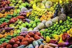 Exhibición de la fruta, mercado, Costa Rica, America Central imagenes de archivo