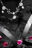 Exhibición de la joyería Foto de archivo