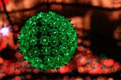 Exhibición de la luz de la Navidad Imagenes de archivo